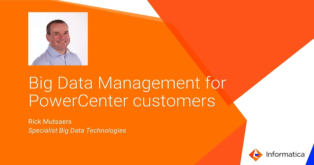 Big Data Management for PowerCenter Customers