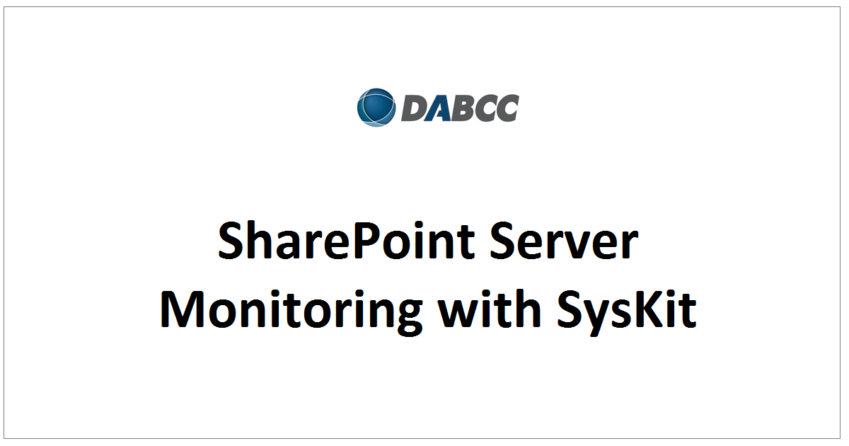 SharePoint Server Monitoring with SysKit