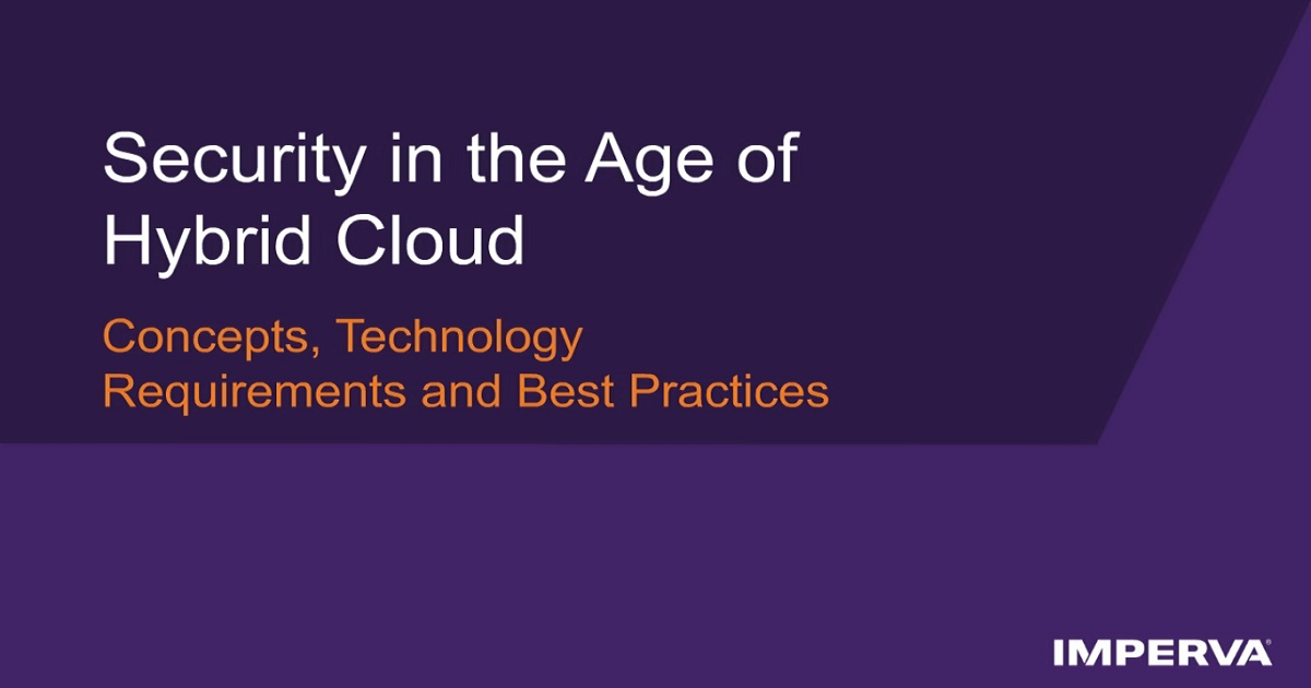 Security in the Age of Hybrid Cloud