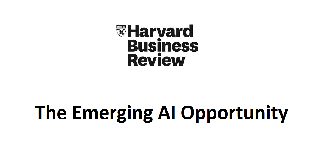 The Emerging AI Opportunity