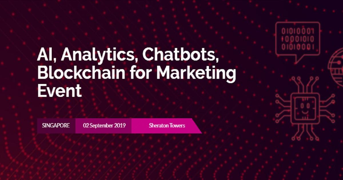 AI, Analytics, Chatbots, Blockchain for Marketing Event