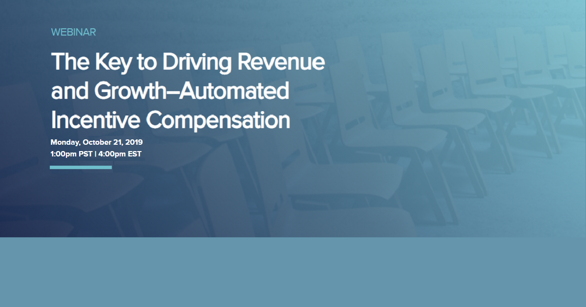 The Key to Driving Revenue and Growth--Automated Incentive Compensation