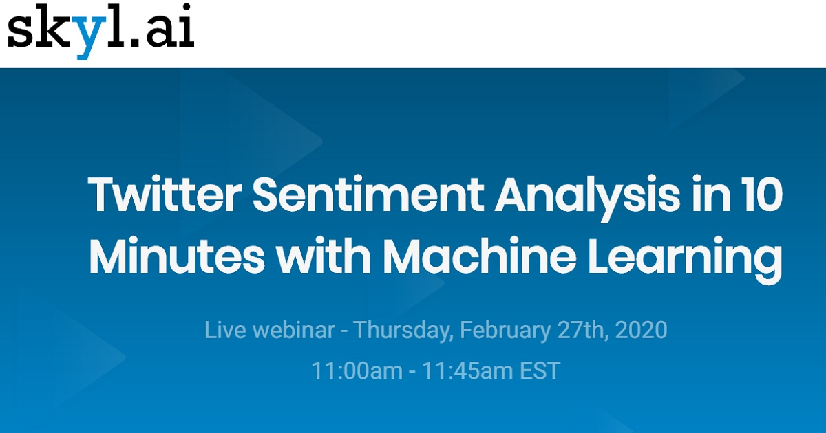 Twitter Sentiment Analysis in 10 Minutes with Machine Learning