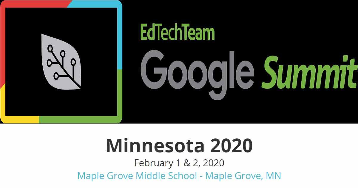 EdTechTeam Google Summit Minnesota 2020