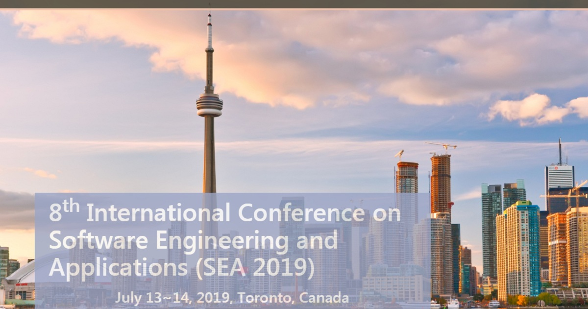 8th International Conference on Software Engineering and Applications (SEA 2019)