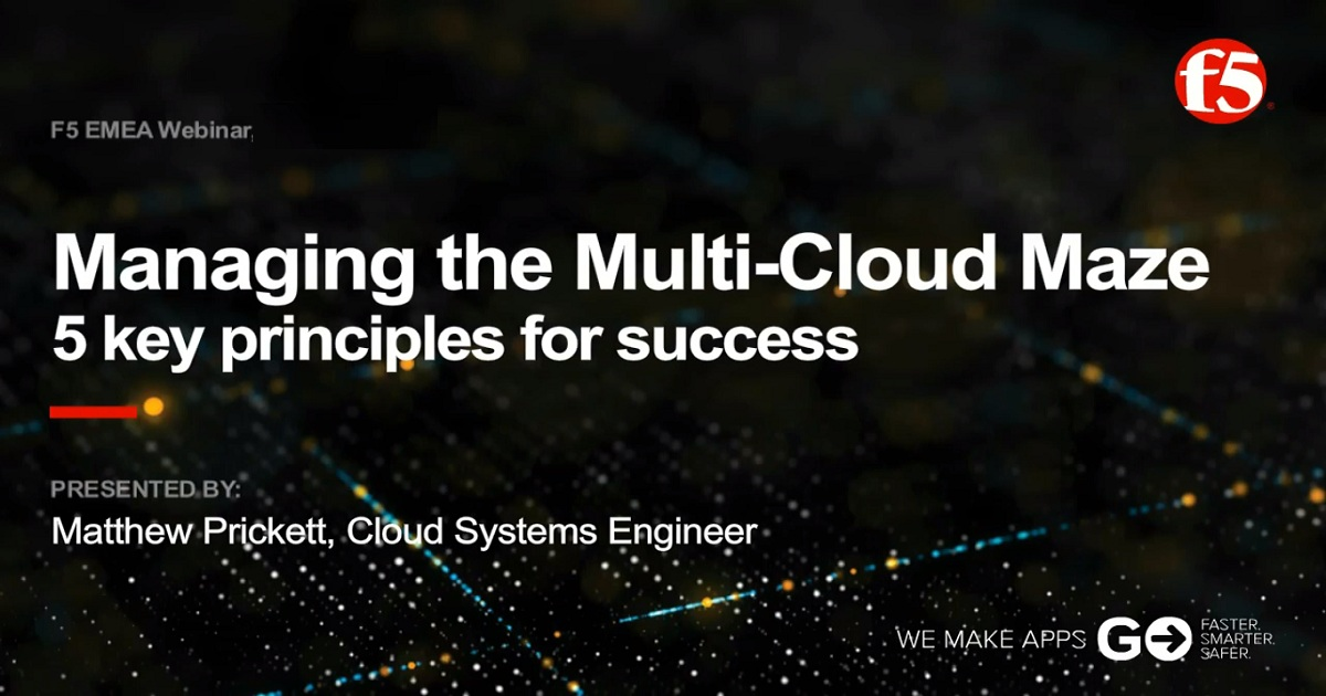 5 principles for managing the multi-cloud maze