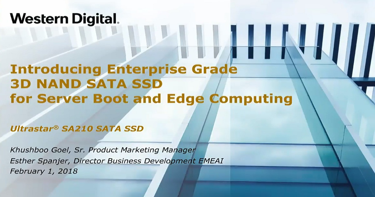 Introducing Enterprise Grade 3D NAND SATA SSD for Server Boot and Edge Computing