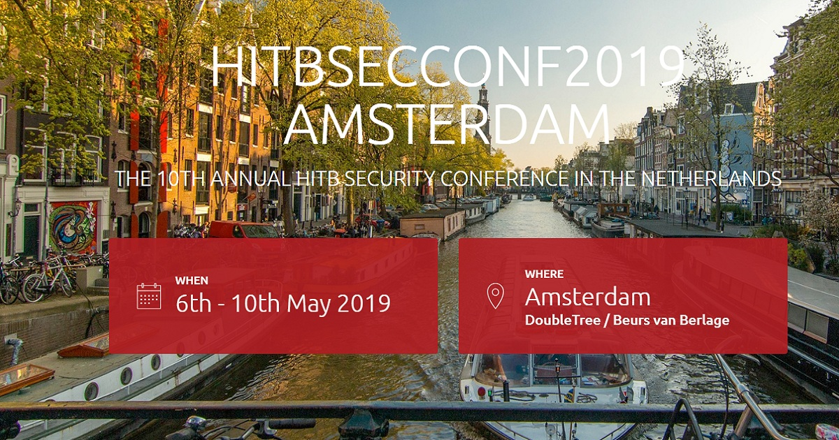 HITBSECCONF2019 AMSTERDAM
