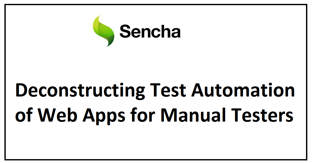 Deconstructing Test Automation of Web Apps for Manual Testers