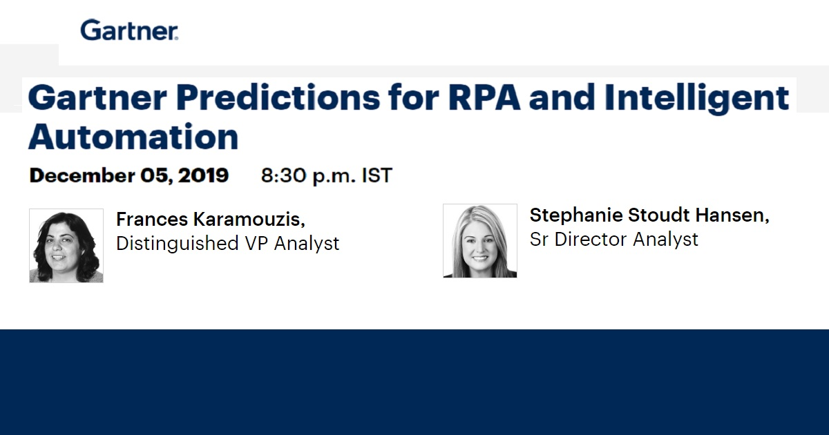 Gartner Predictions for RPA and Intelligent Automation