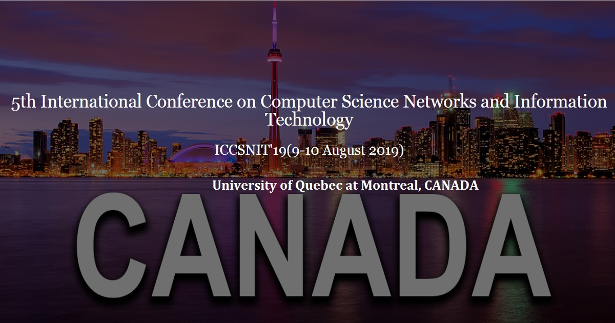5th International Conference on Computer Science Networks and Information Technology