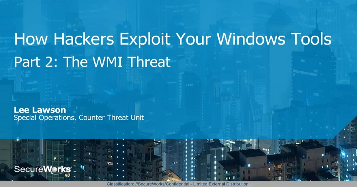 How Hackers Exploit Your Windows Tools, Part 2: The WMI Threat