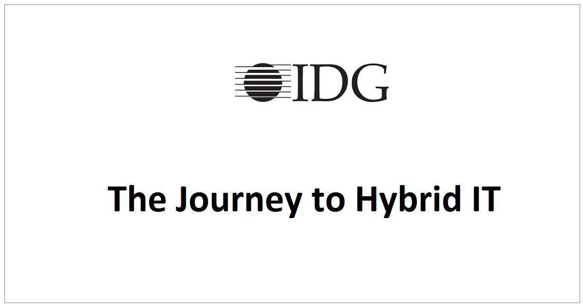 The Journey to Hybrid IT