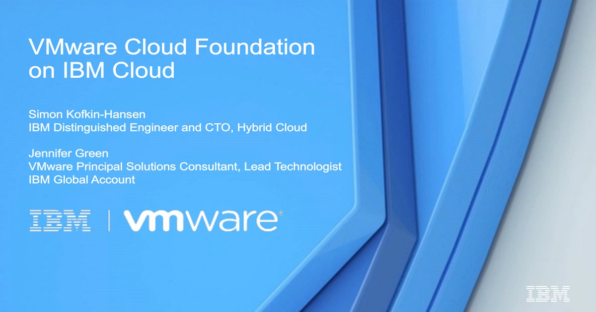 A closer look at VMware Cloud Foundation