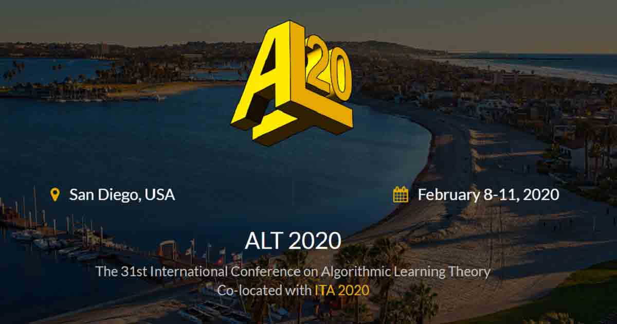 The 31st International Conference on Algorithmic Learning Theory