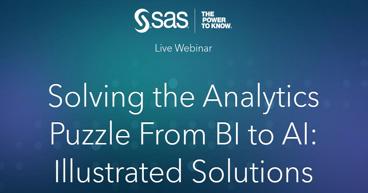 Solving the Analytics Puzzle From BI to AI: Illustrated Solutions