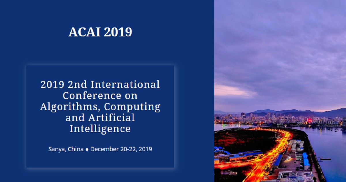 2019 2nd International Conference on Algorithms, Computing and Artificial Intelligence