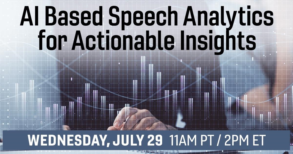 AI Based Speech Analytics for Actionable Insights