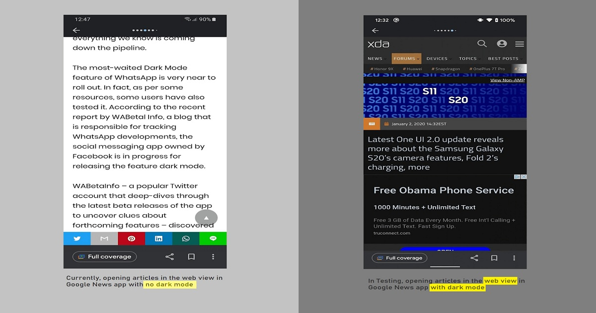 Google Is Developing An Improved Dark Mode and Up/Down Vote Buttons For Its News App