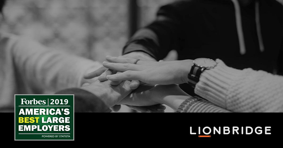 Lionbridge Again Named One of America's Best Employers by Forbes