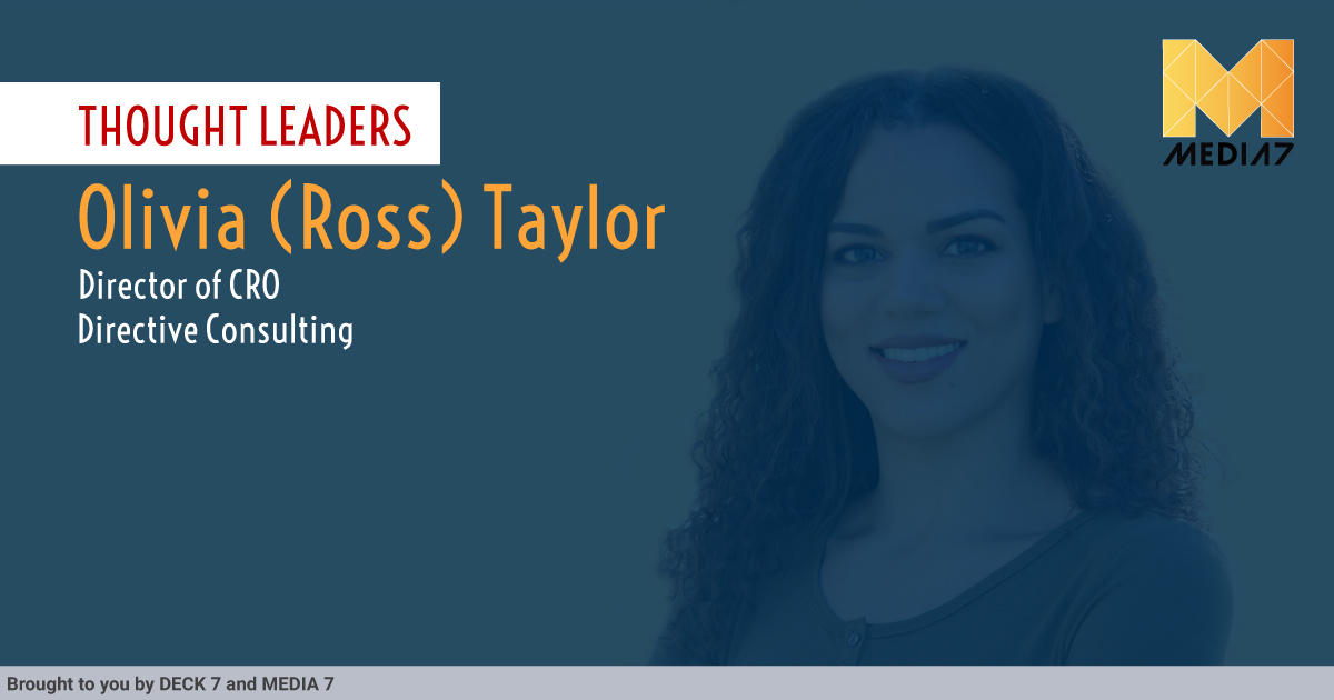 Q&A with Olivia (Ross) Taylor, Director of CRO at Directive Consulting